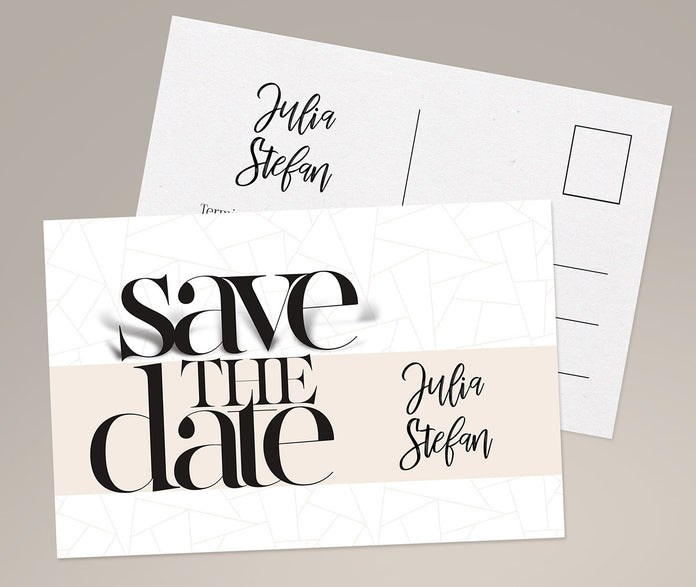 Abstrakte Save-The-Date Karte