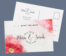 Rote Save-The-Date Karte