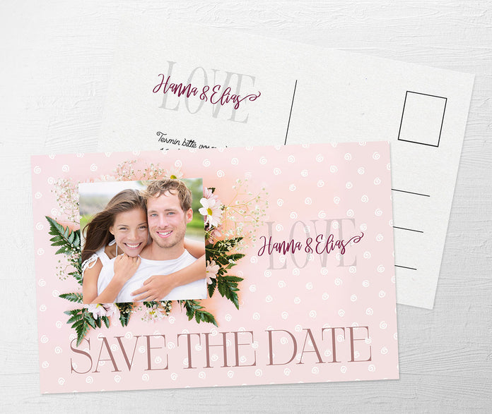 Liebevolle Save-The-Date Karte