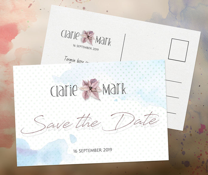 Leichte Save-The-Date Karte