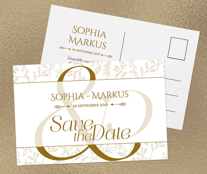 Feine Save-The-Date Karte