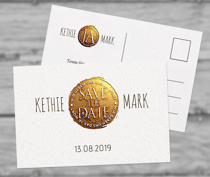 """Ja"" Save-The-Date Karte"