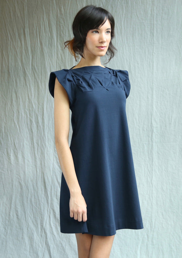 Folded Swing Dress, flutter sleeve
