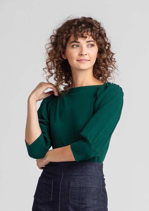 Puff Sleeve Jersey Top