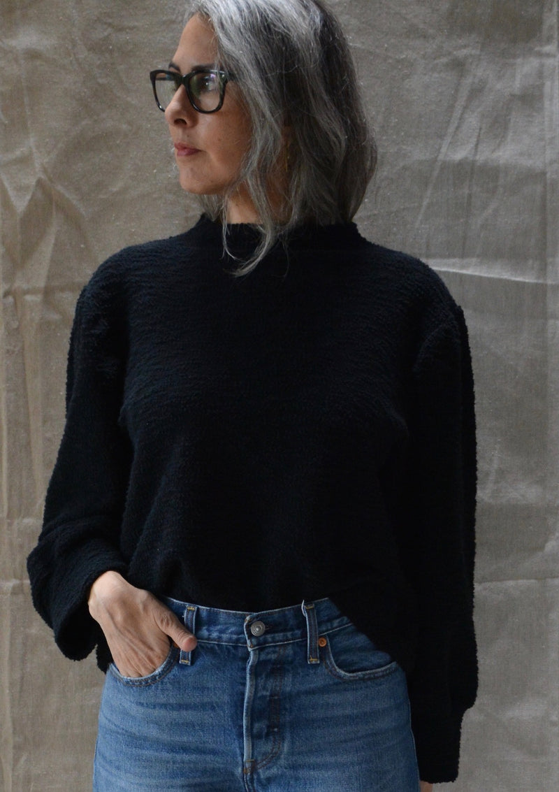 Texture Puff Sleeve Top