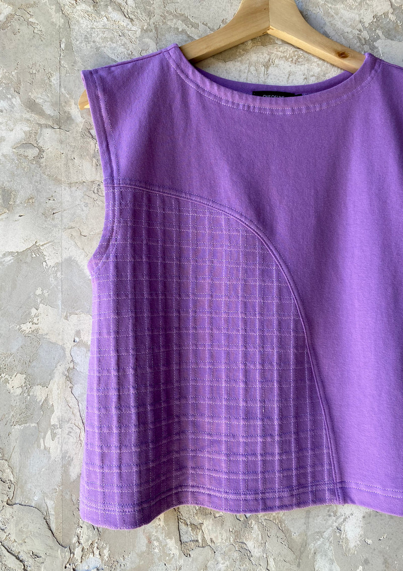 74/100 Lilac Top with Grid Detail, Small