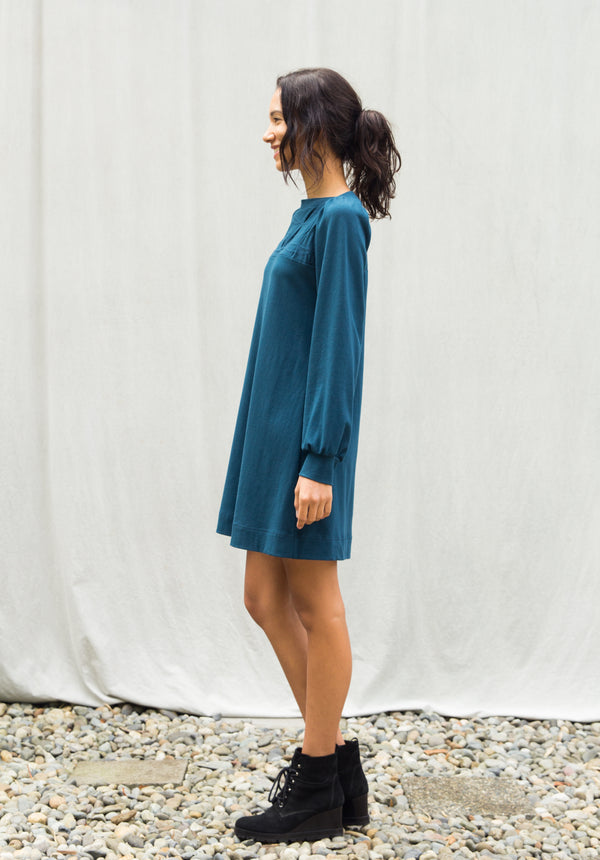 Folded Swing Dress, long sleeve