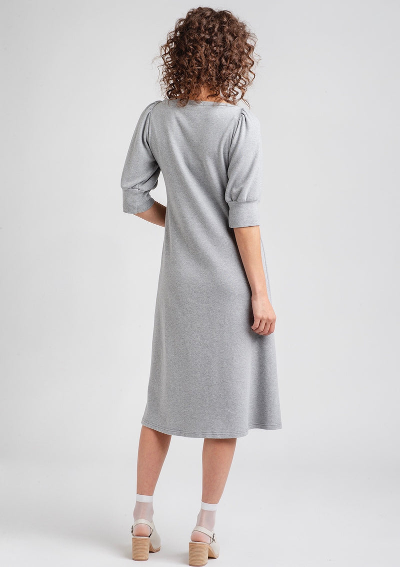 Triangle Dress with Puff Sleeves