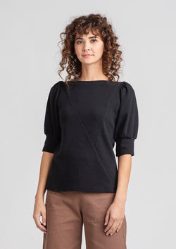 Triangle Top with Puff Sleeves