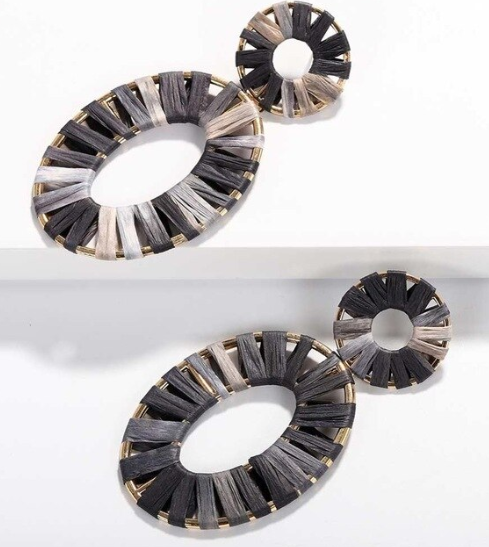 Riley Raffia Statement Earring