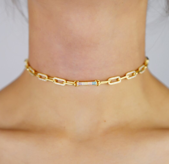 Amara Gold Link Necklace
