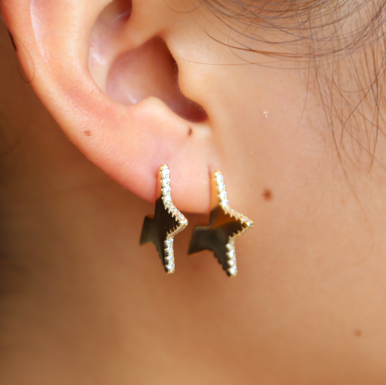 Amelia Star Earring-925 Sterling Silver
