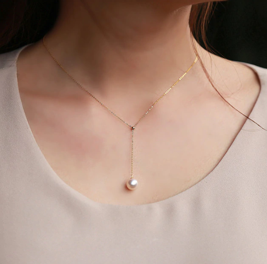 Aria Lariat Pearl Necklace