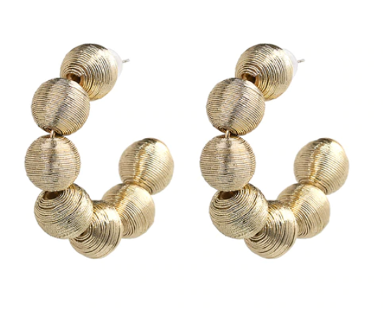 Ava Ball Statement Hoop Earring