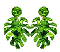 Ayla Palm Tree Resin Earring