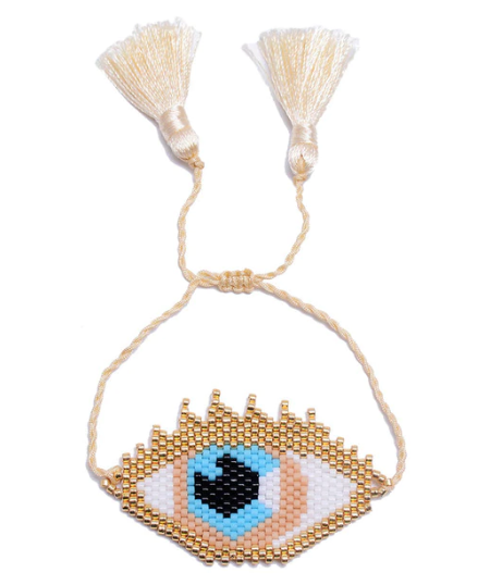 Carlie Beaded  Evil Eye Bracelet