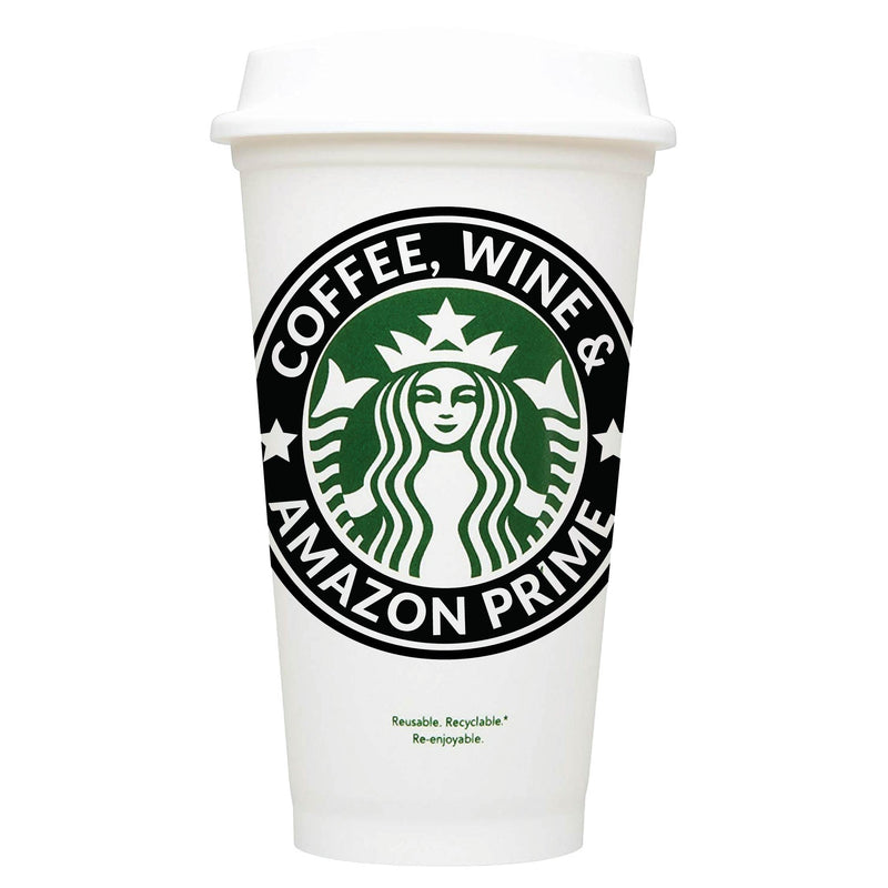 Coffee, Wine & Amazon Prime Starbucks Hot Cup