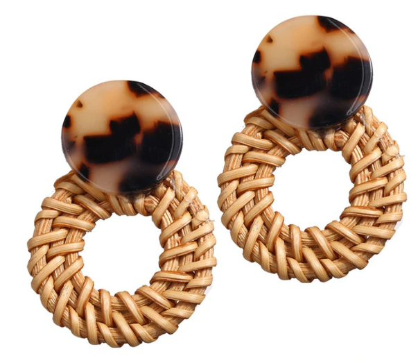 Dahlia Rattan Statement Earring