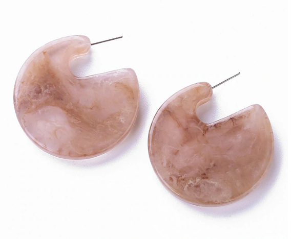 Eden Resin Hoop Earring