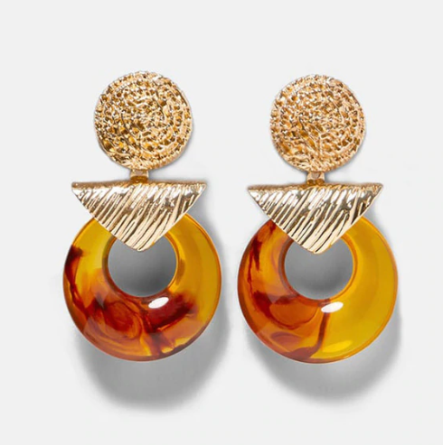 Gianna Tortoise Gold Earring