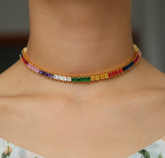 Ivy Multicolor Choker Necklace