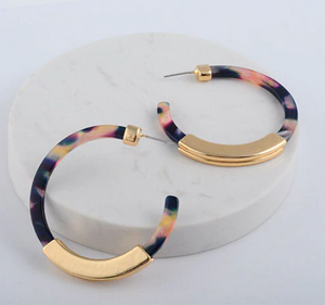 Milani Resin Hoop Earring