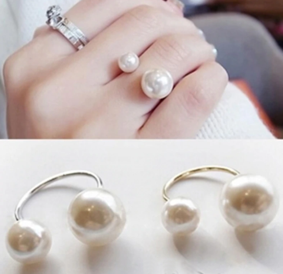Saachi Adjustable Pearl Ring