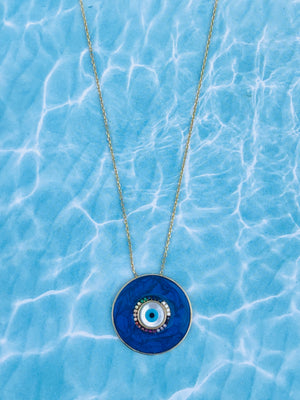 Piper Evil Eye Rainbow Necklace