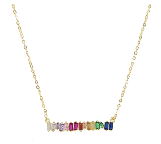 Reese Rainbow Bar Necklace