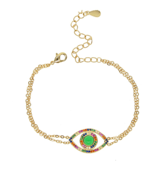 Sophia Multicolor Evil Eye Bracelet