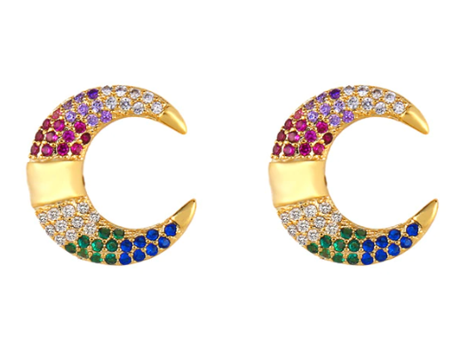 Willa Multicolor Crescent Statement Earring