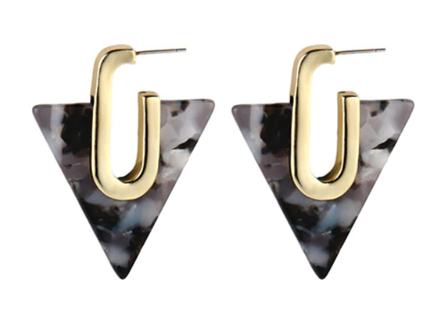 Zoe Triangle Resin Earring