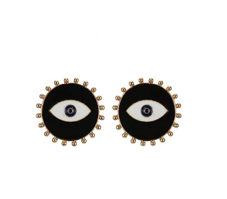 Luna Evil Eye Stud Earring