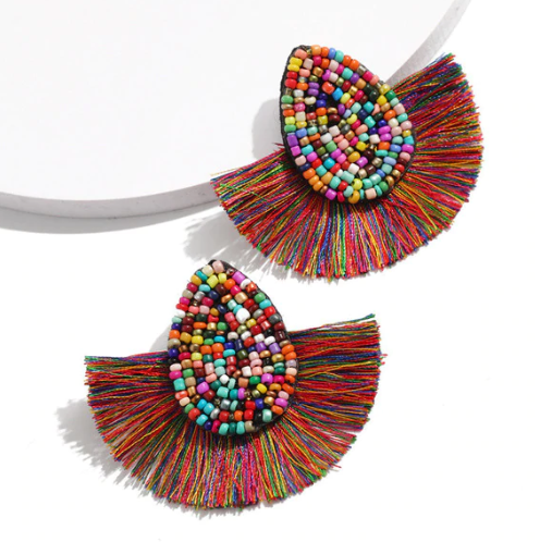 Sammy Rainbow Fringe Earrings