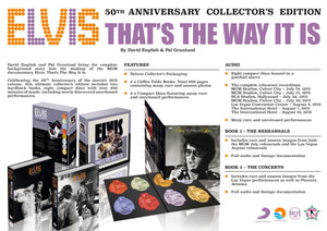 ELVIS: THAT'S THE WAY IT IS - 50th ANNIVERSARY COMMEMORATIVE BOOKS & CDs SET