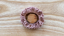 Load image into Gallery viewer, Crochet Scrunchie Dusty Pink