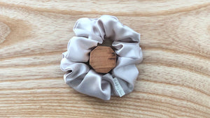 Satin Scrunchie Champagne