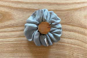 Duck Egg Linen Scrunchie