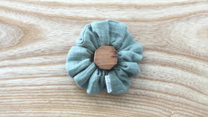 Double Gauze Scrunchie Eucalyptus