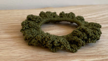 Load image into Gallery viewer, Crochet Scrunchie Olive
