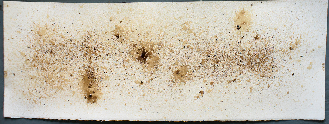 Coffee Abstract Art Original Print 01 - 12 x 36 inches
