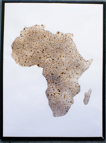 African Continent in Coffee 18 x 24 inches
