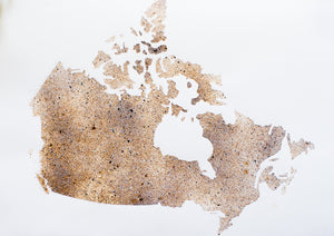 Oh Canada - Coffee Art - 18 x 24 inches