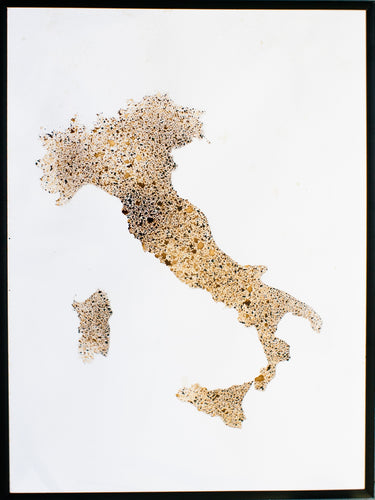 Italia in Coffee Art - 18 x 24 inches
