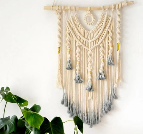Macrame Dream Catcher Tapestry