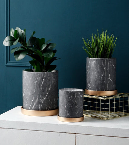 marble planter