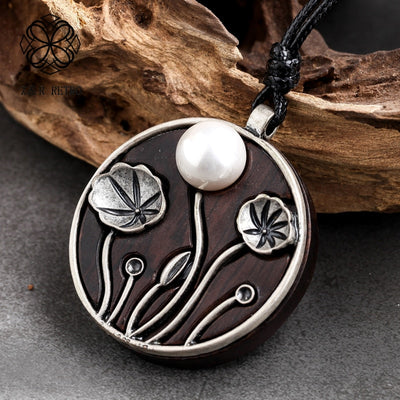 Silver Lotus Pendant Necklace - ThepotplantCo