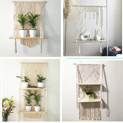 latest Macrame Wall Shelf