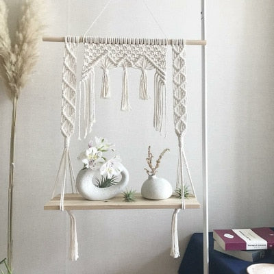 Macrame Wall Hanging Shelves