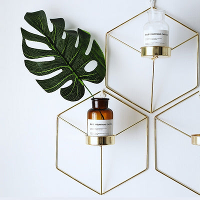 Hexagon Wall Mounted Vase Holder